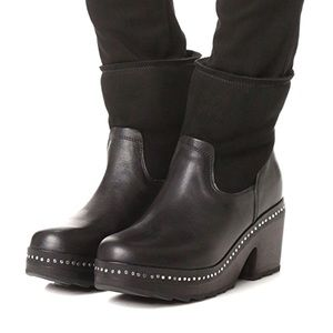 Rag & Bone Nelson Clog Leather Shearling Boots NWT